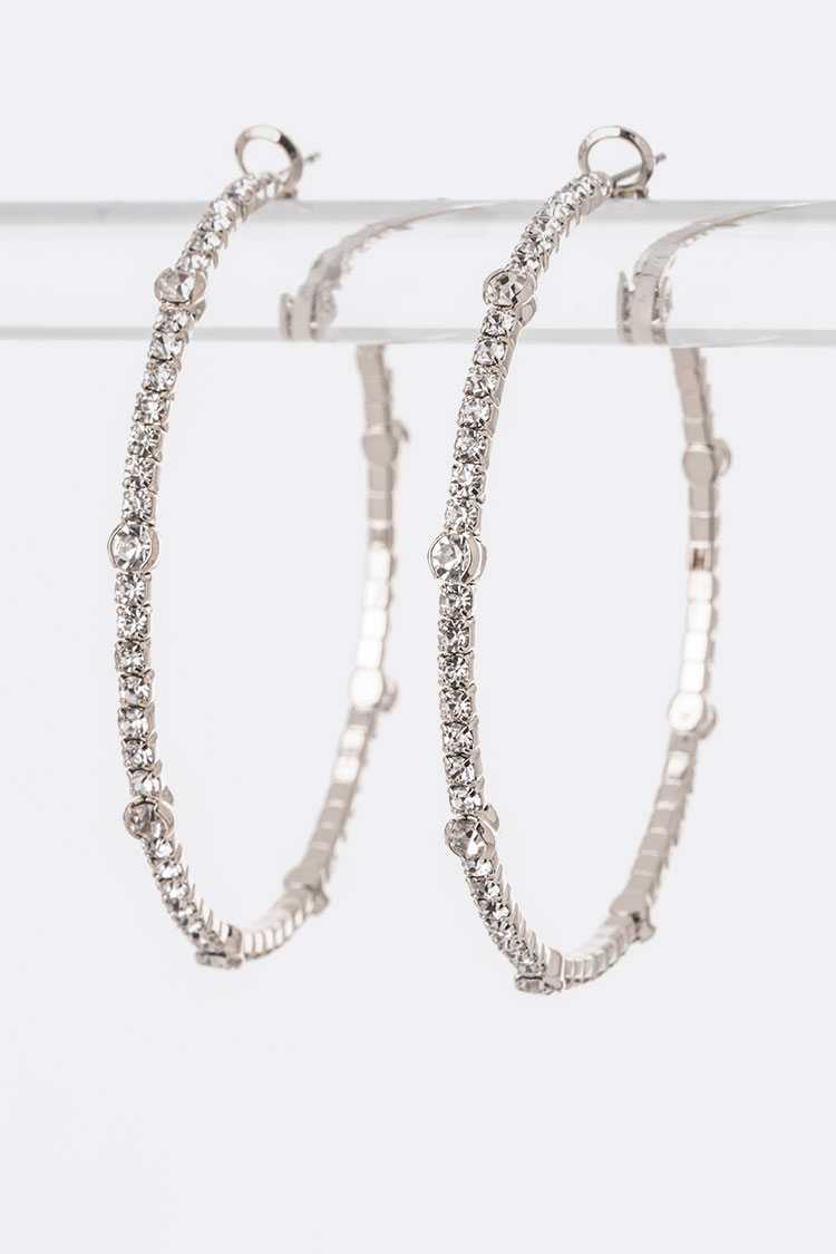 50MM Crystal Iconic Hoops