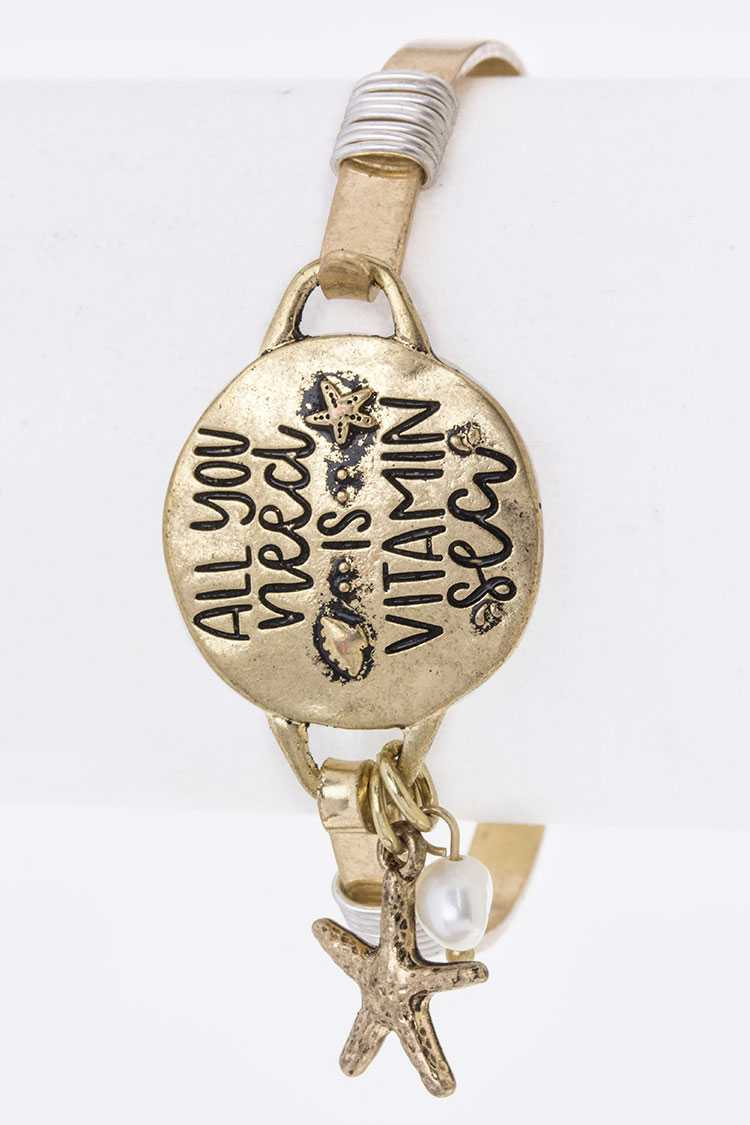 All You Need Is.. Engraved Disk Hook Bangle