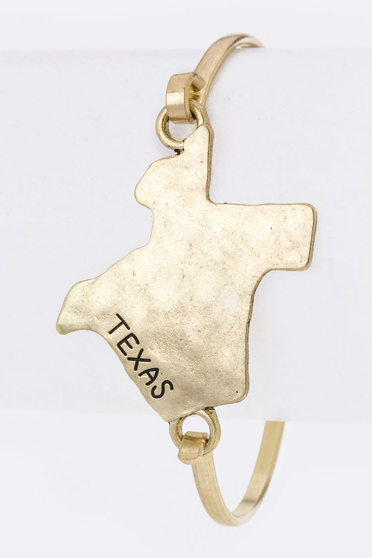 Texas Map Hook Bangle