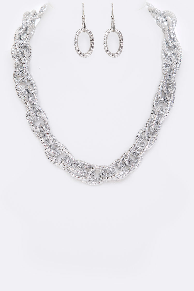 Linked Collar Necklace Set