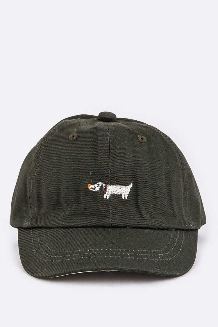 Kids Sized Puppy Embroidery Cap