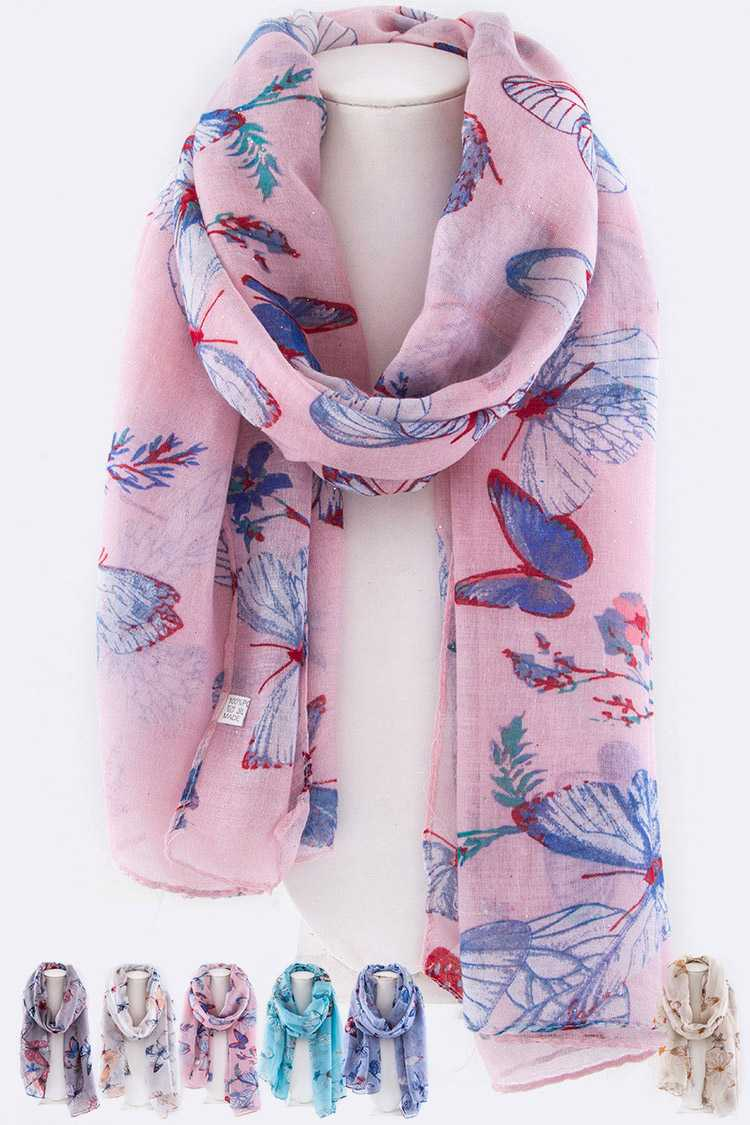 Butterfly Printed Fashion Scarf