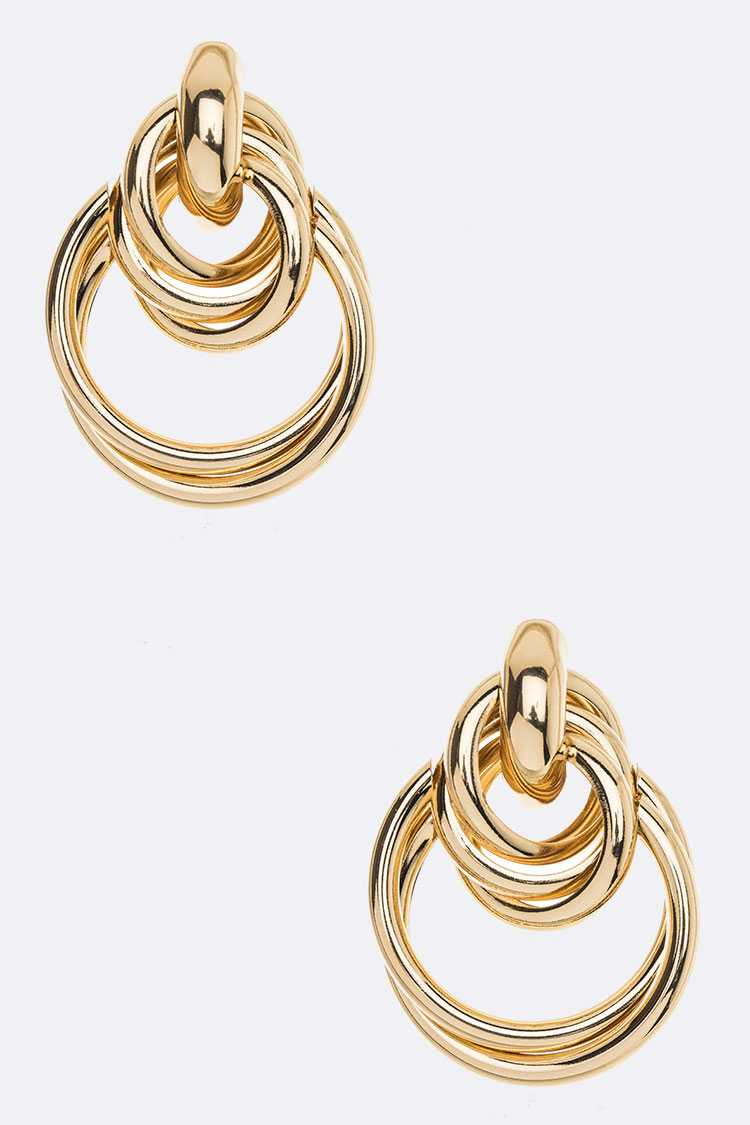 Mix Ring Post Earrings