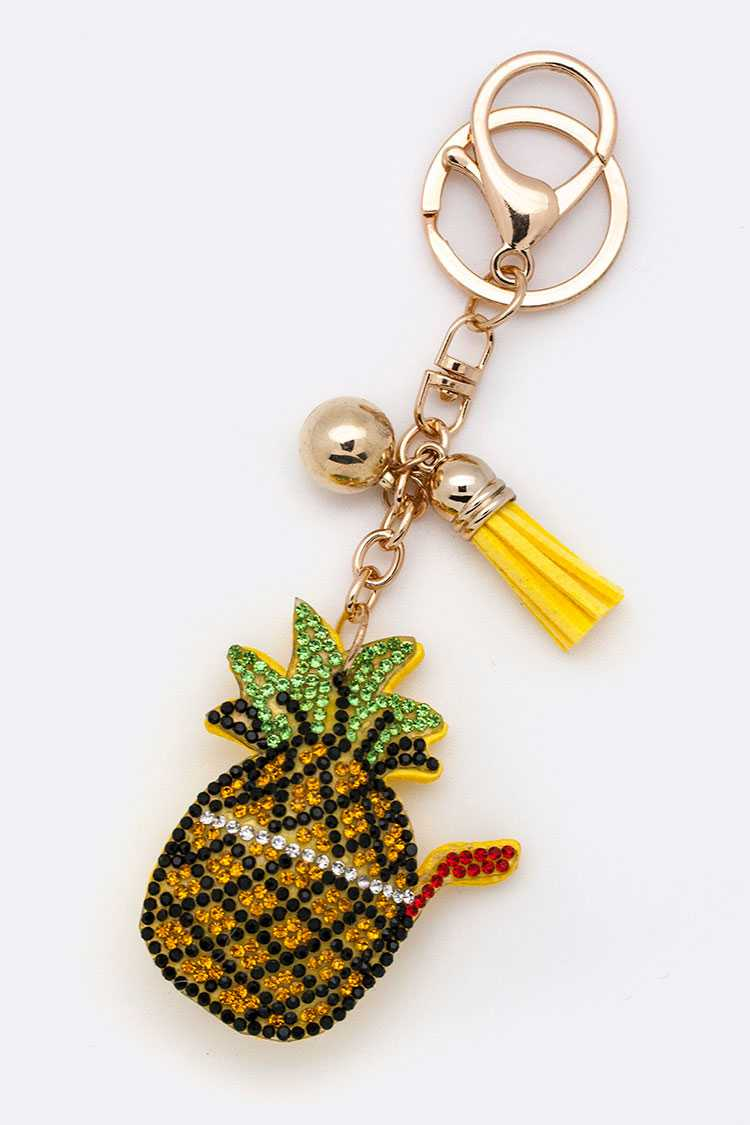 Crystal Pineapple Juice Key Charm