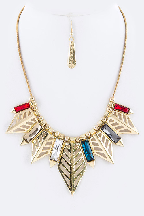 Mix Arrows Statement Necklace Set