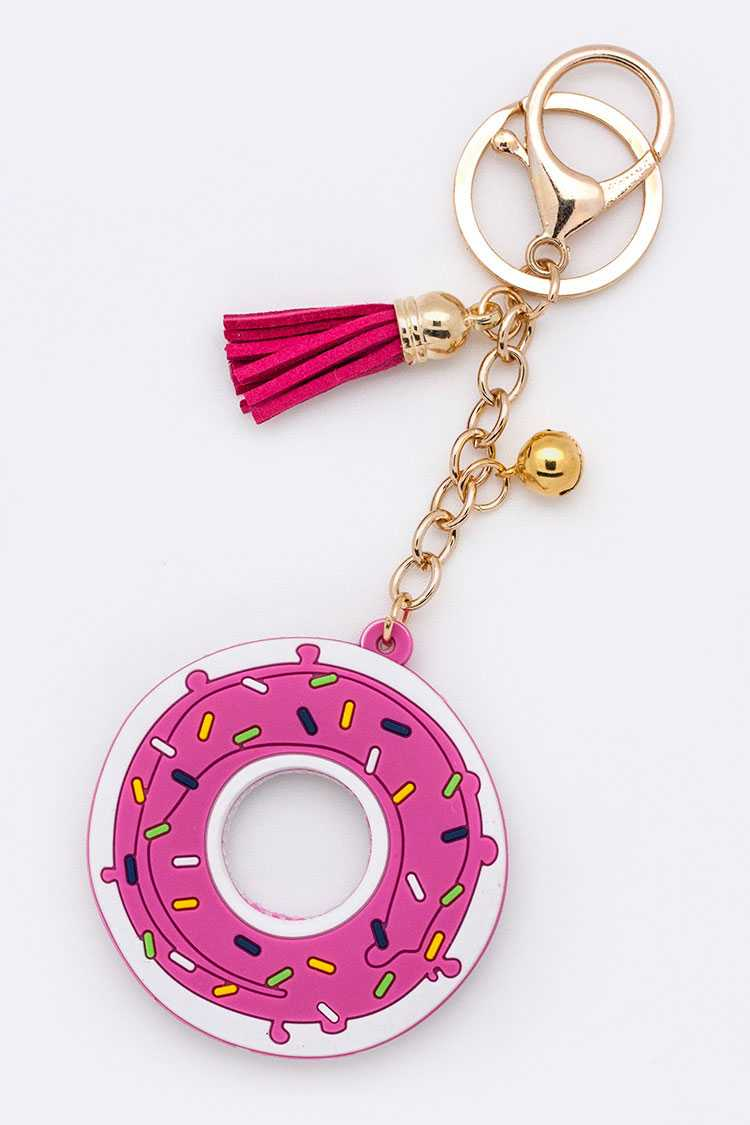 Jelly Donut Key Charm