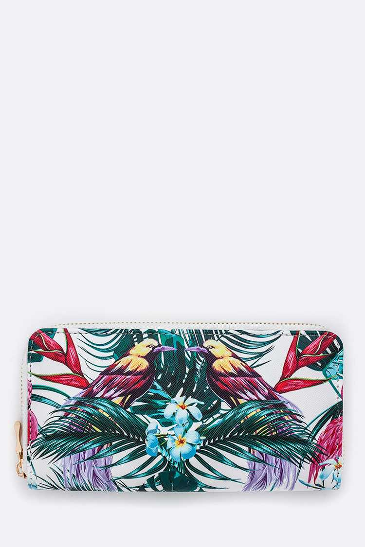 Bird-of-Paradise Print Wallet