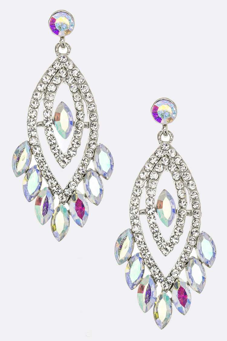 Mix Crystal Statement Earrings