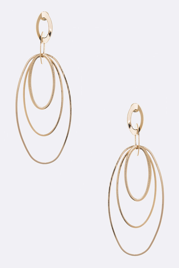 Wired Oval Fashion Earrings
