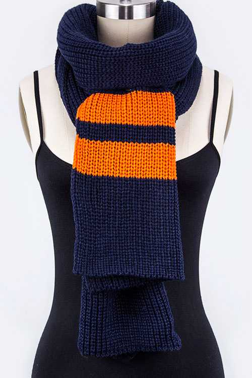 Team Color Striped Knit Extra Long Scarf