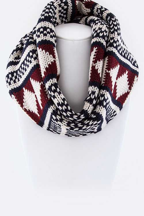 Aztec Pattern Infinity Scarf