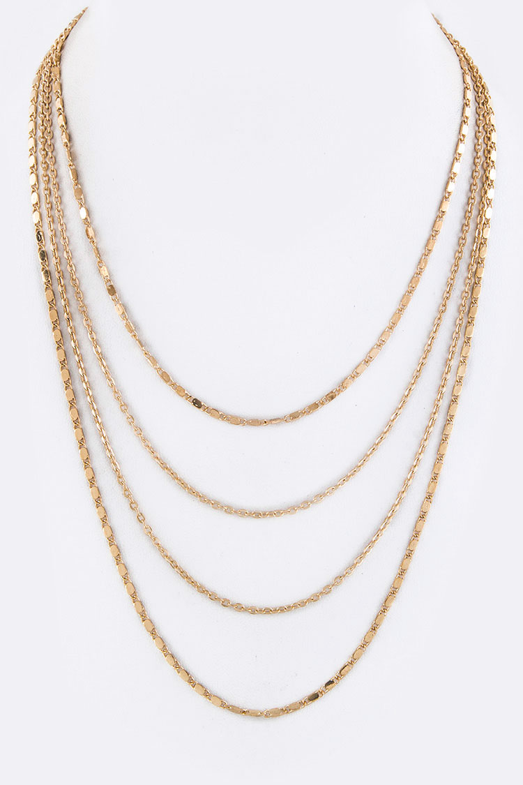 Mix Chains Layer Necklace