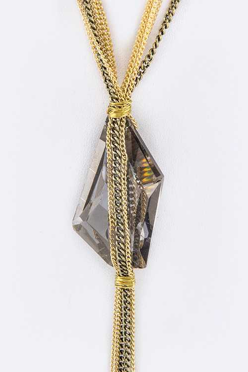 Chained Crystal Layer Necklace