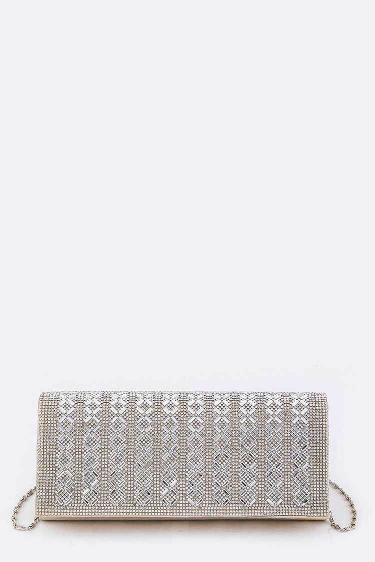 Mix Crystals Lurex Clutch Bag