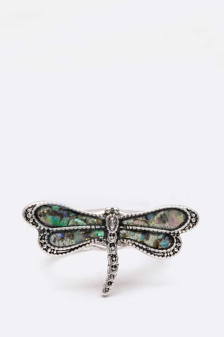 MOP Dragonfly Stretch Ring