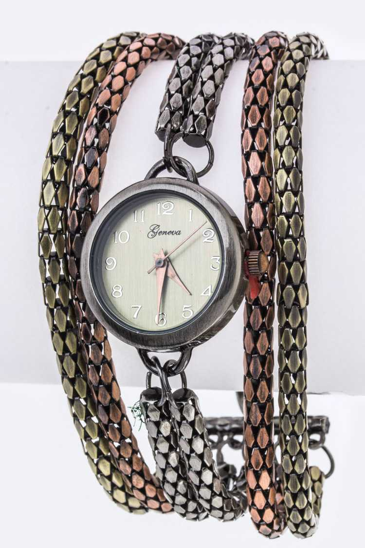 Layer Chains Bracelet Watch