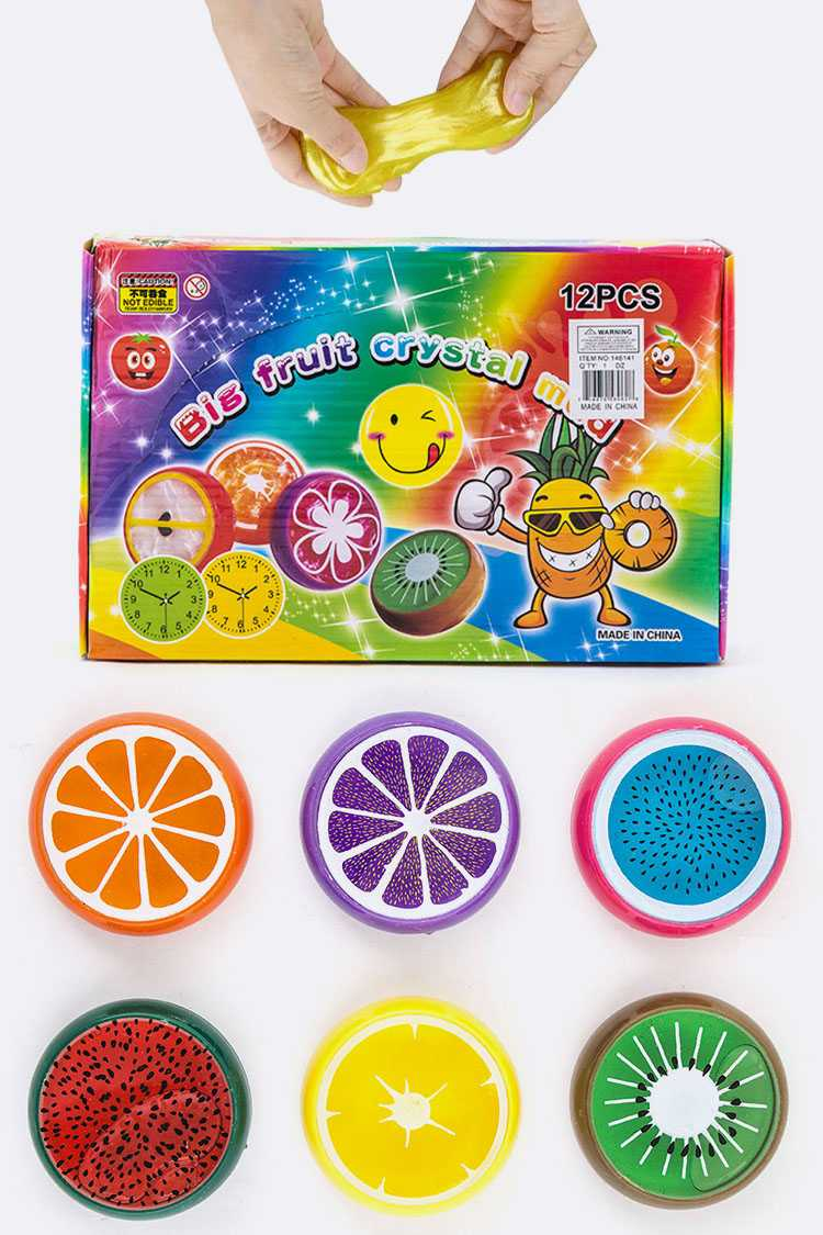 Assorted Fruit Crystal Mud Slime Box
