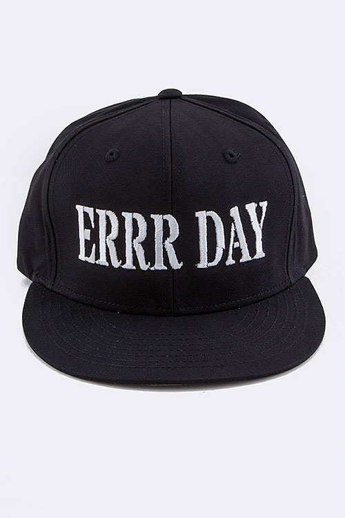ERRR DAY Embroidered Snap Back Cap
