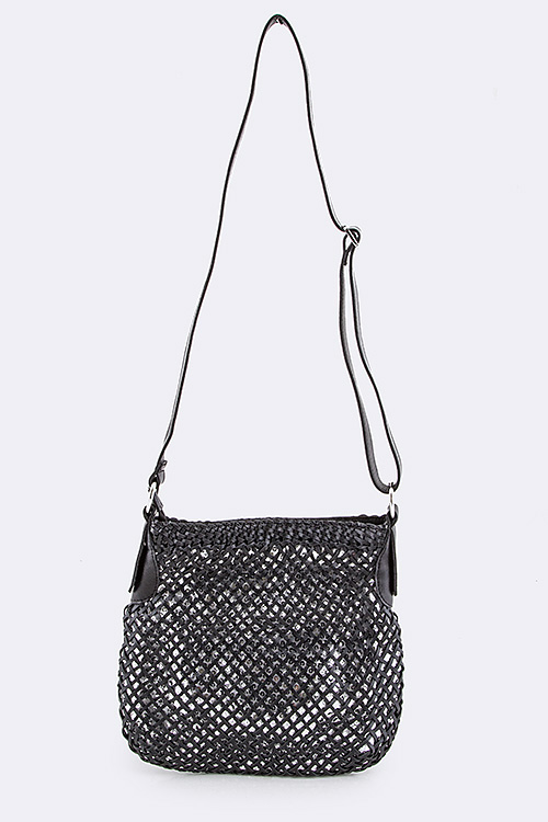 Overlay Sequins Crossbody Swing Bag