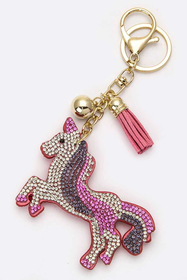 Crystal Unicorn Key Charm