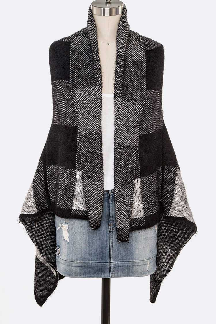 Buffalo Plaid Winter Knitted Vest