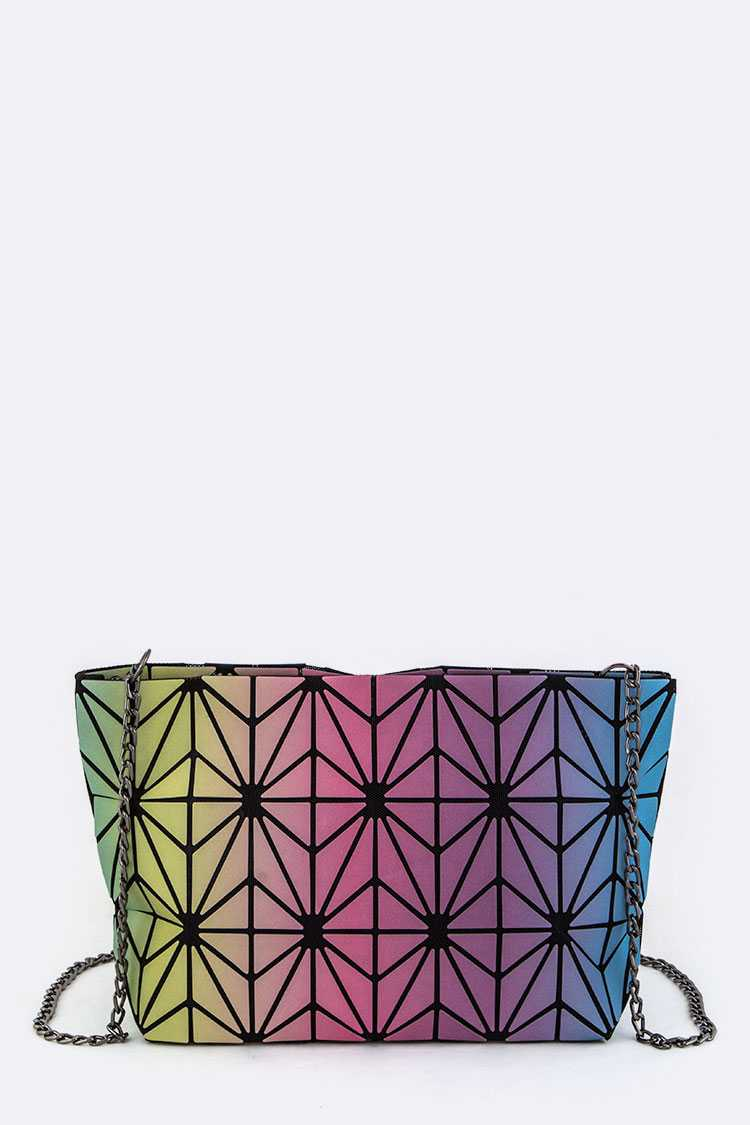 Geo Convertible Crossbody Clutch Bag