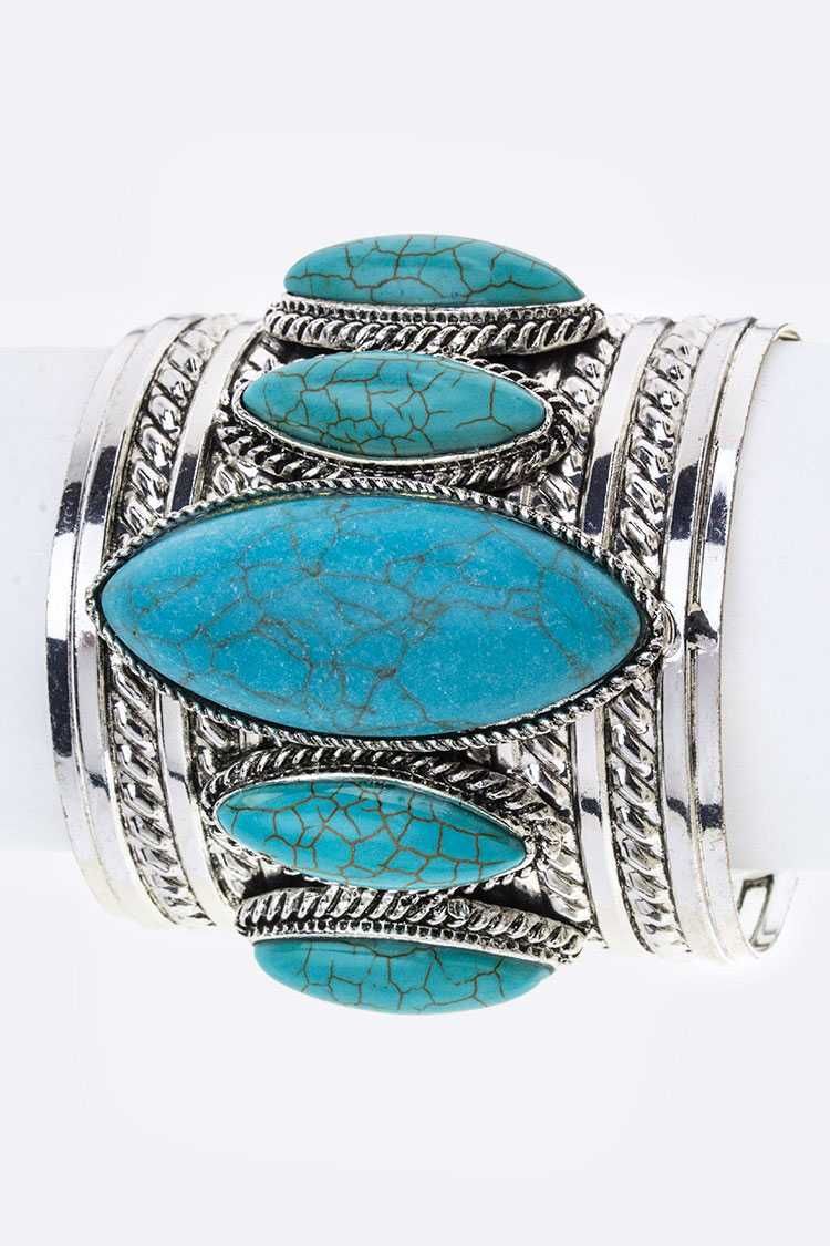 Paved Stone Seeds Metal Cuff