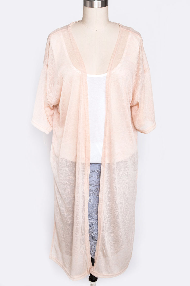 Sheer Kimono Cover Up Cardigan