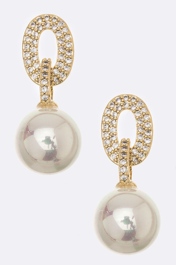 CZ & Pearl Earrings