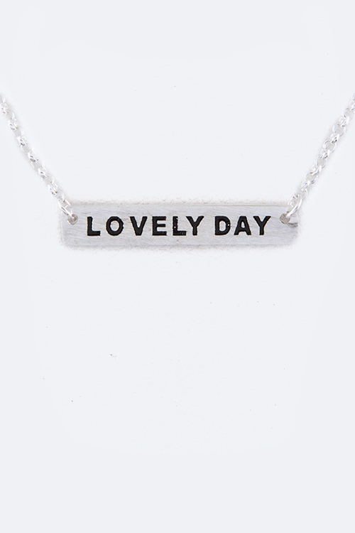 Sterling Silver LOVELY DAY Tag Necklace