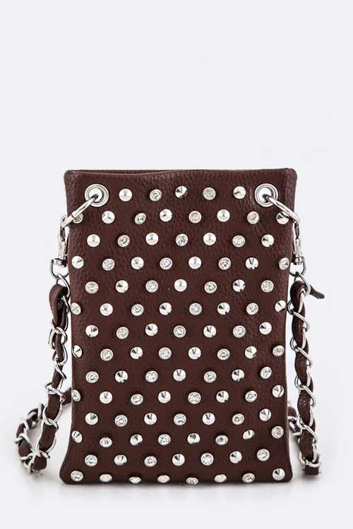 Mix Studs Leather Swing Bag