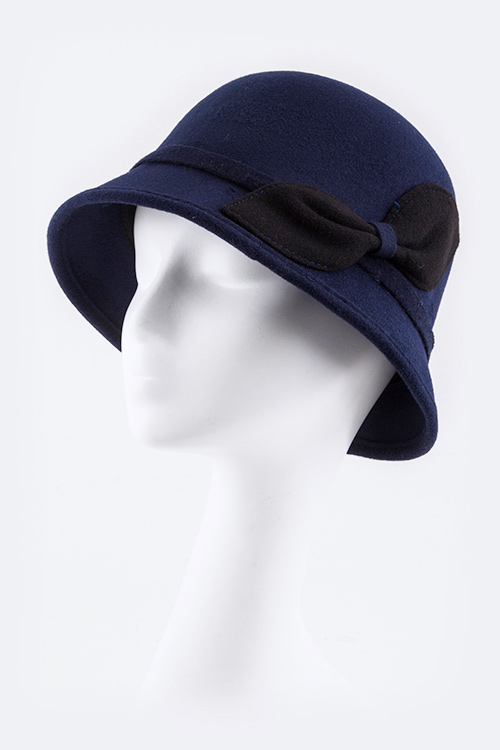 Bow Accent Fashion Bucket Hat