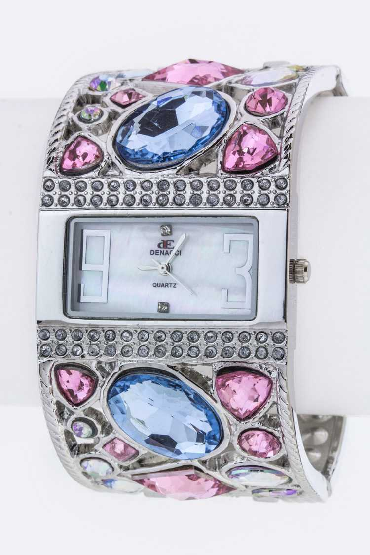 Crystal Bangle Watch