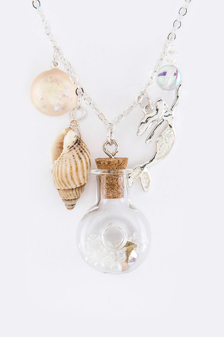 Mix Bottle Charms Necklace Set