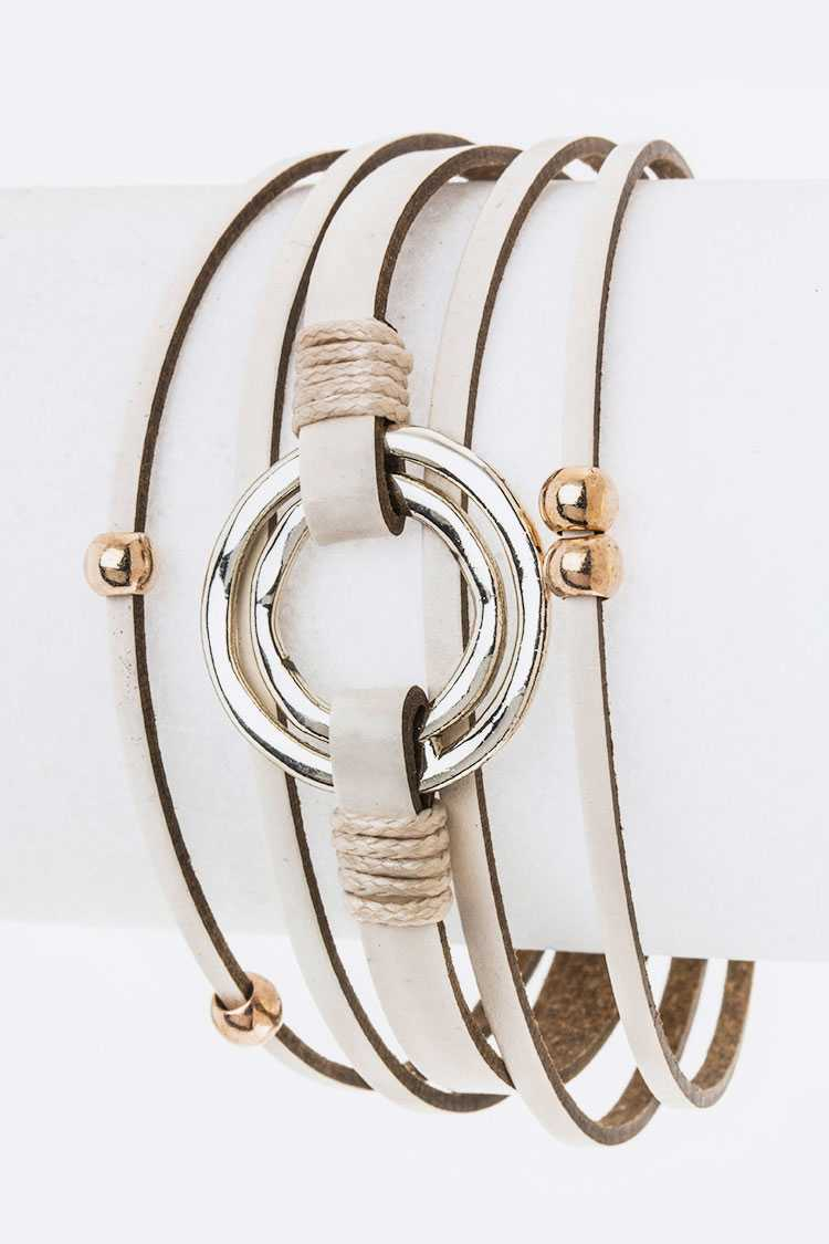 Metal Hoop Charm Layer Cuff