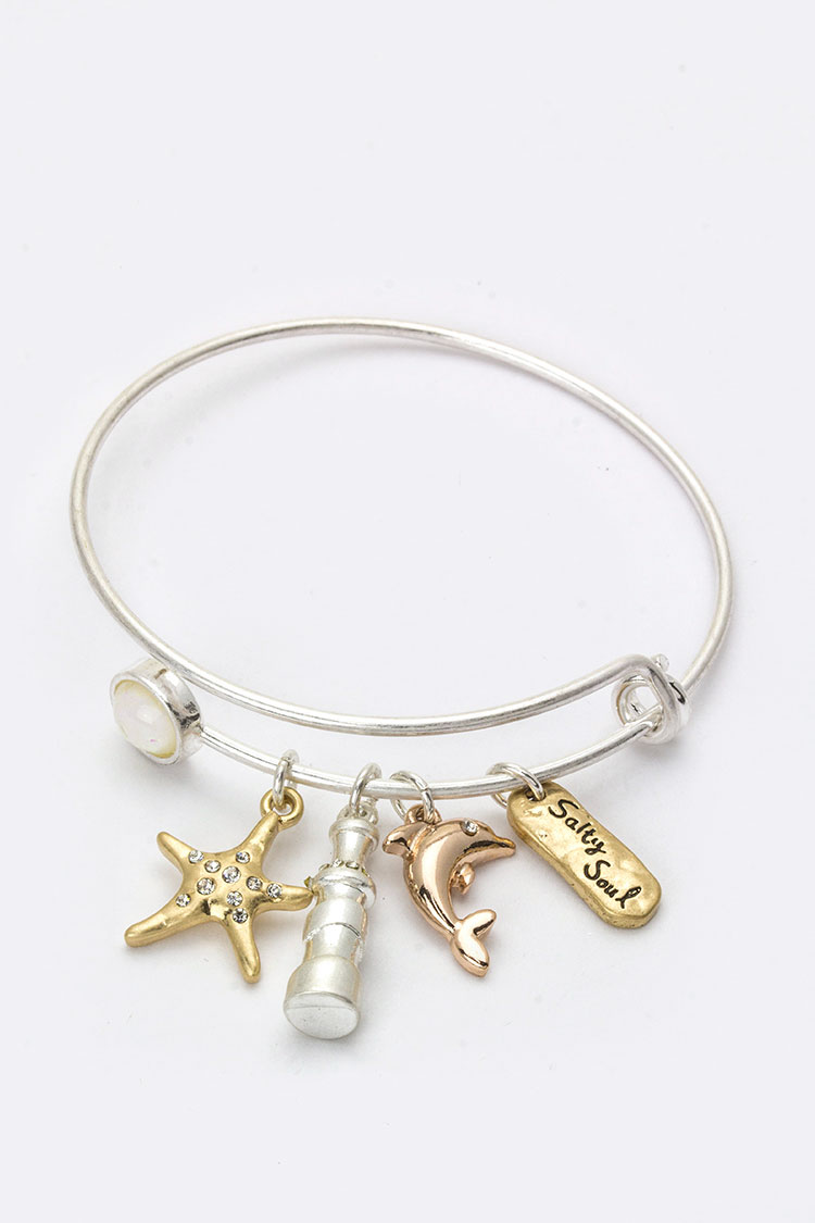 Dolphin Mix Charms Bangle