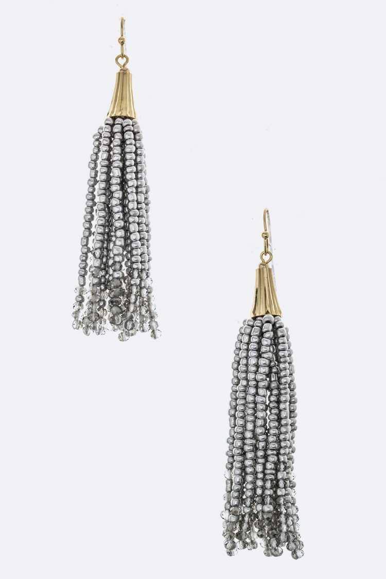 Beads & Crystal Drop Iconic Earrings
