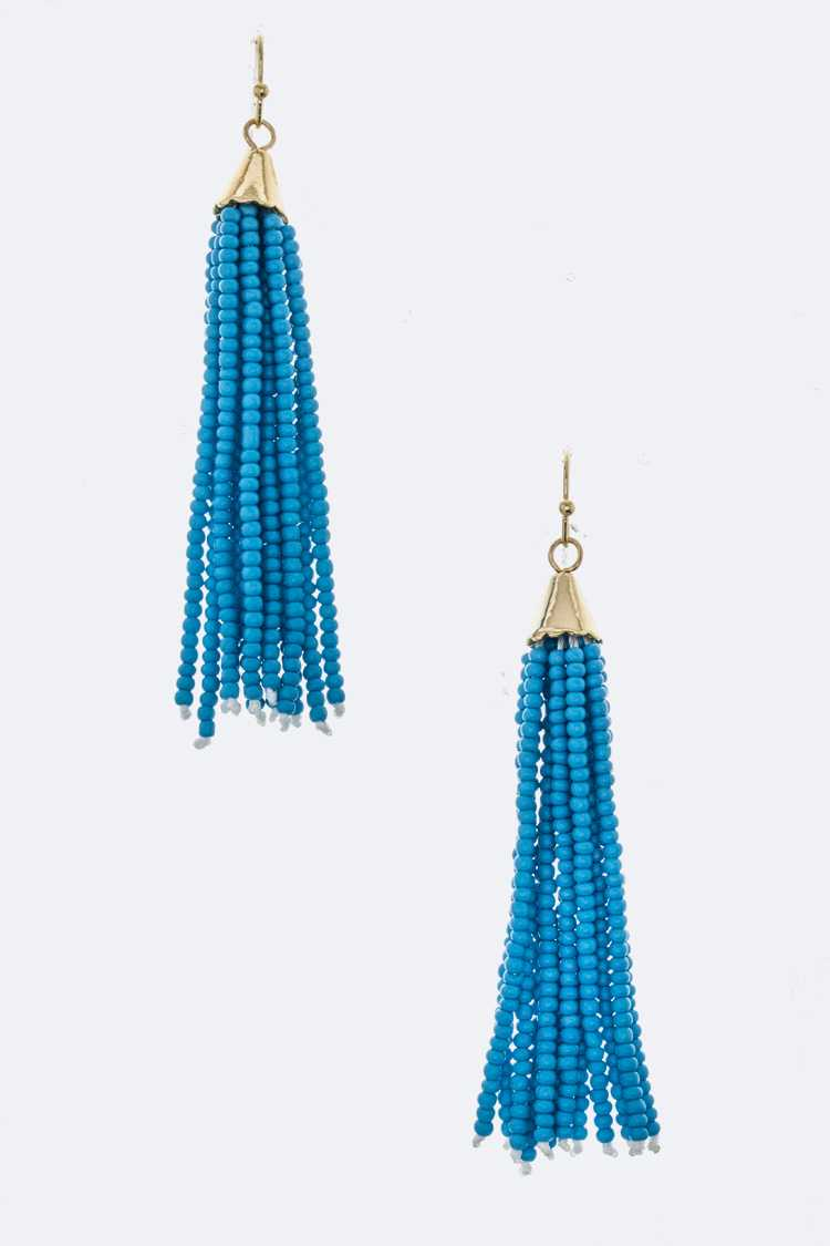 Seedbeads Tassel Festival Earrings