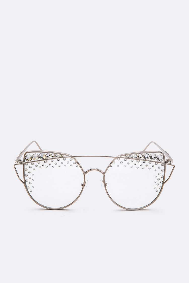 Austrian Crystal Pave Clear Optical Glasses