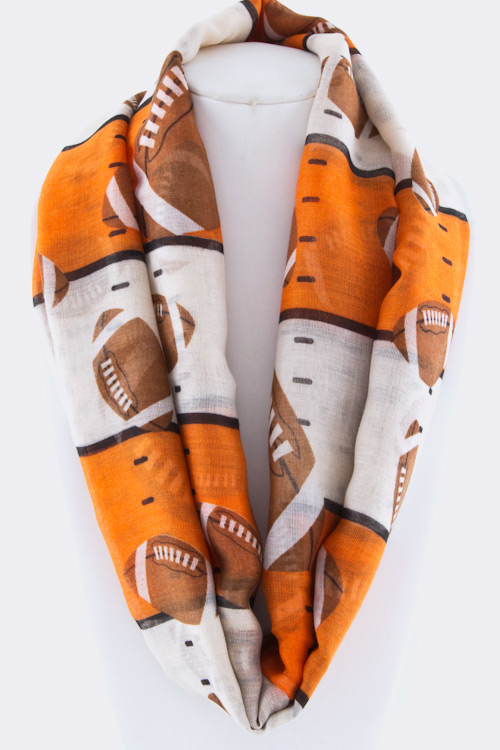 Team Color College Football Fashion Infinity Scarf