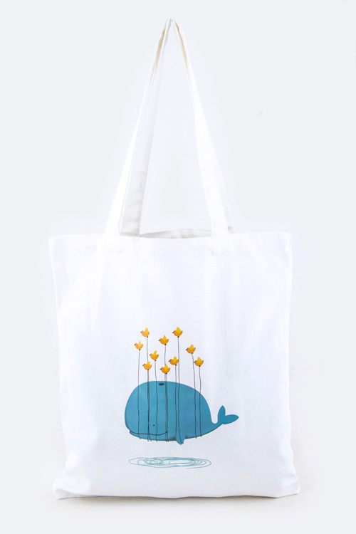 Flying Whale Fashion Tote