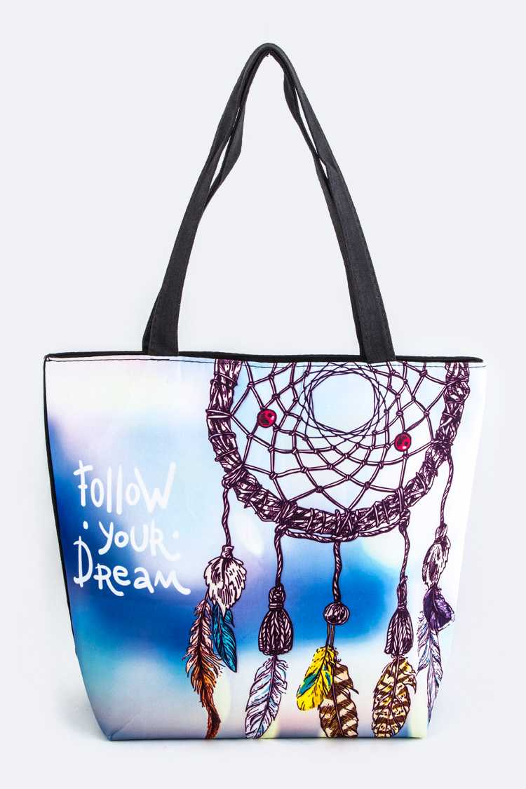 Dream Catcher Print Tote