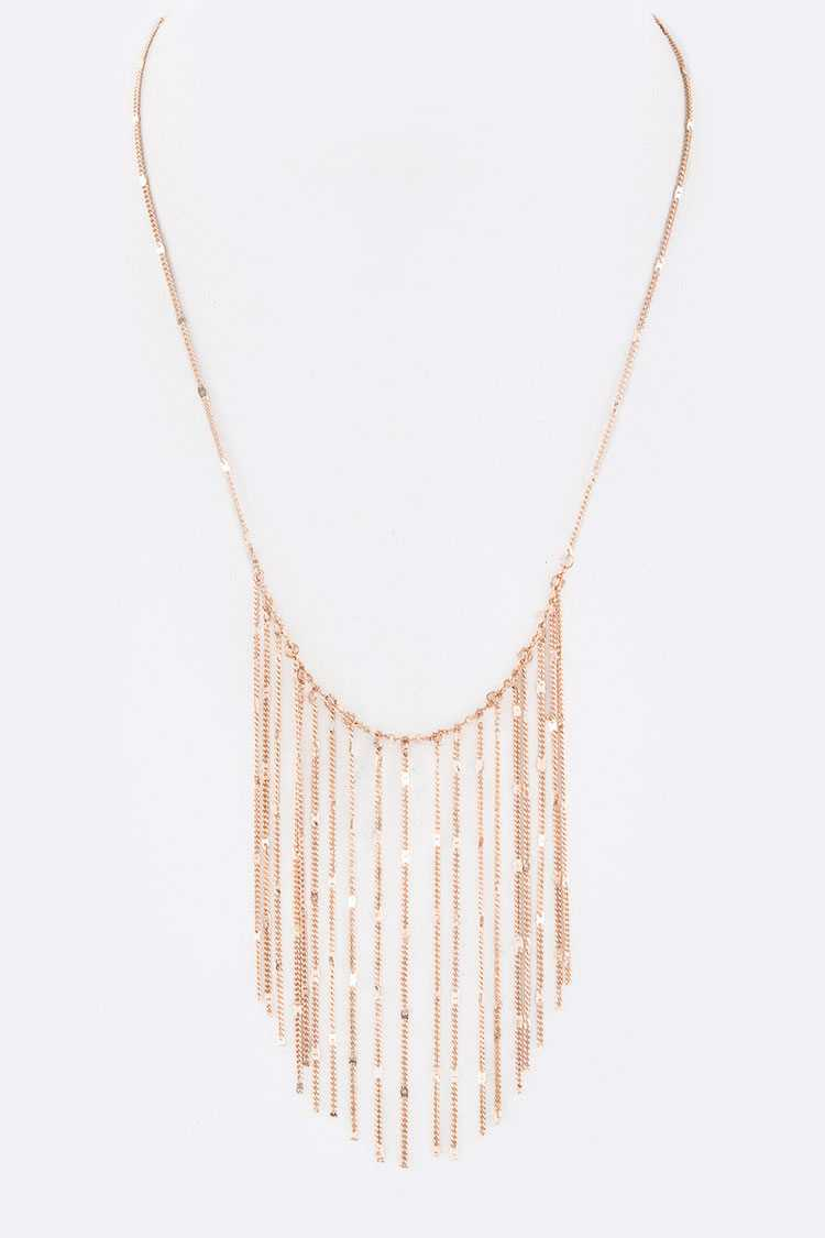 Fringe Chains Layer Necklace