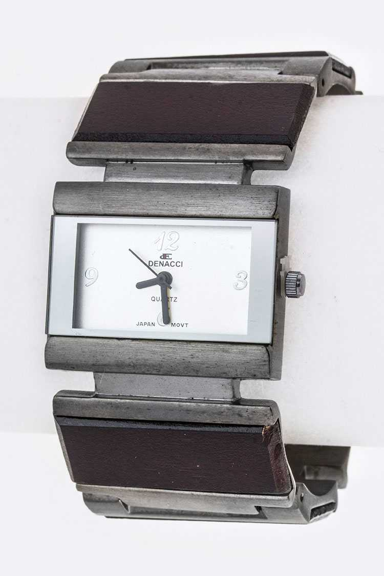 Flex Wooden Block Bangle Watch