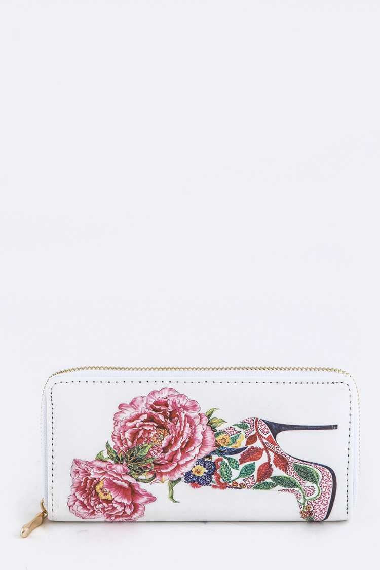 Roses In A Boot Print Wallet