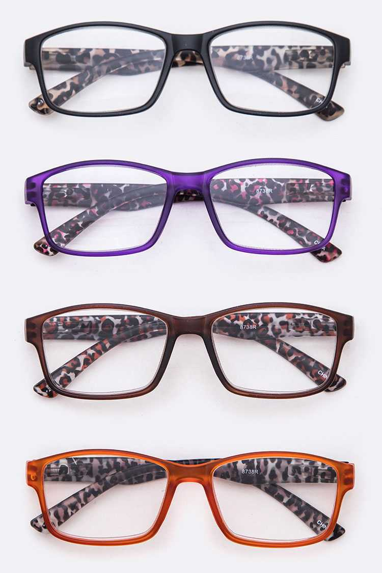 Animal Print Temple Reading Glasses Set