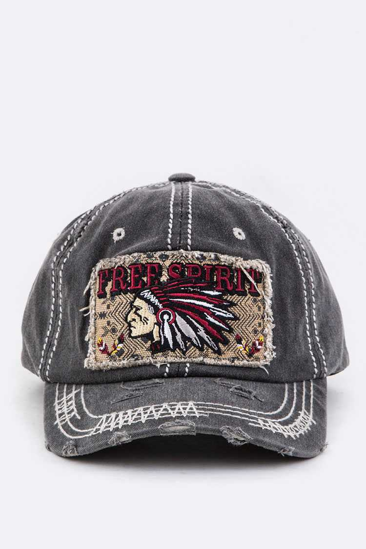 FREE SPIRIT Embroidery Cotton Cap