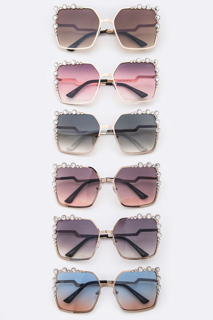 Crystal Studs Iconic Sunglasses
