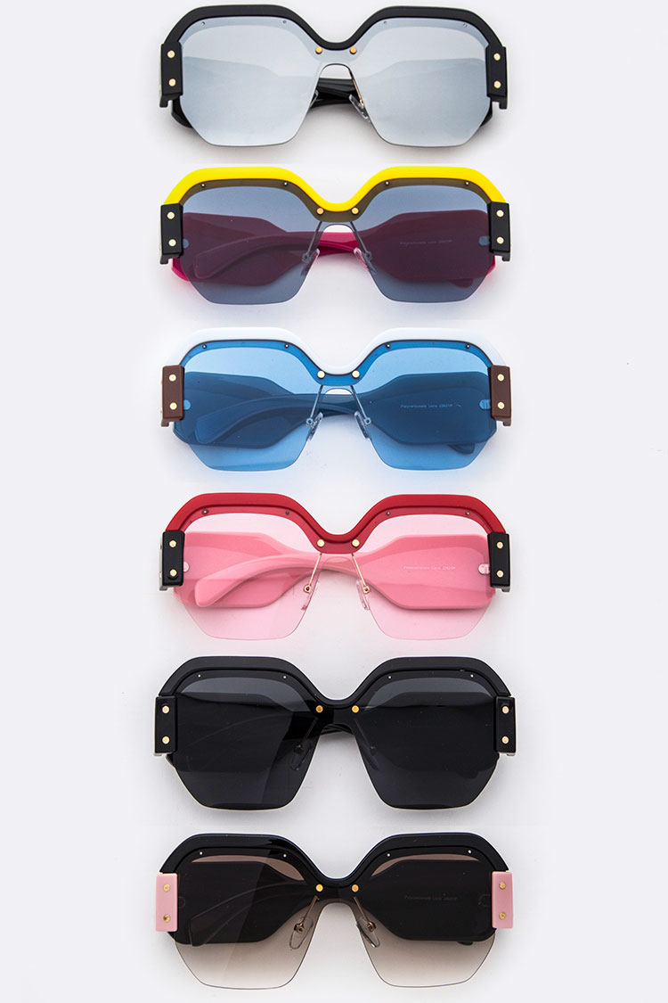 Iconic Pop Color Framed Sunglasses