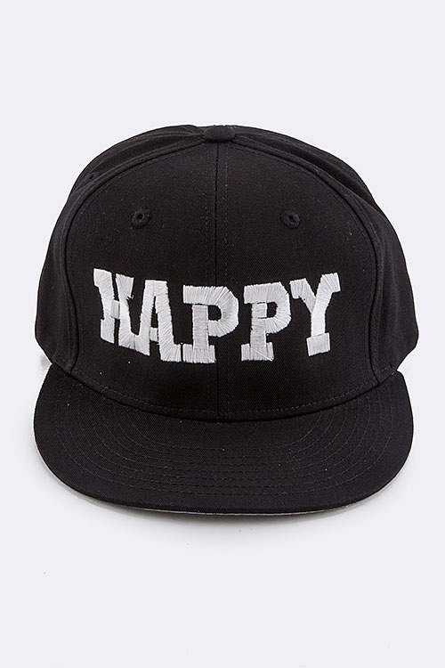 HAPPY Iconic Embroidered Fashion Cap